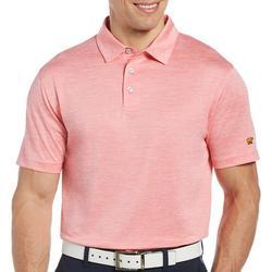 Jack Nicklaus Mens Melange Print Golf Polo Shirt