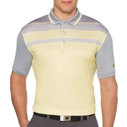 Jack Nicklaus Mens Stacked Stripe Chest Polo Shirt