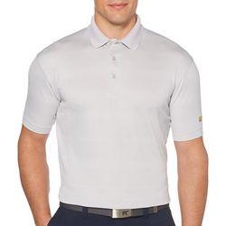 Jack Nicklaus Mens Striped Jacquard Polo Shirt