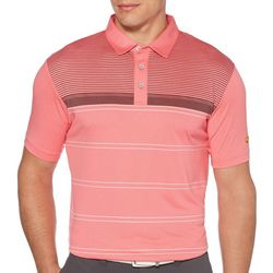 Jack Nicklaus Mens Blurred Line Print Polo Shirt
