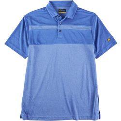 Jack Nicklaus Mens Dazzling Vista Striped Polo Shirt