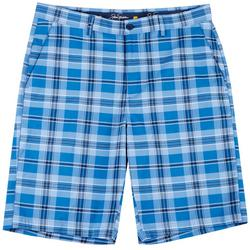 Mens Yarn Dyed Plaid Shorts