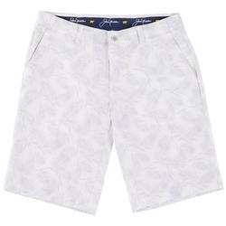 Mens Seersucker Palm Golf Shorts