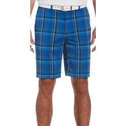 Jack Nicklaus Mens Plaid Golf Shorts