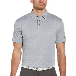 Jack Nicklaus Mens Mini Paisley Print Twill Golf Polo Shirt
