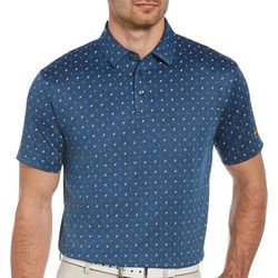Jack Nicklaus Mens Printed Twill Golf Polo Shirt