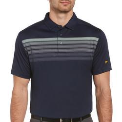Mens Short Sleeve Stripe Golf Polo Shirt