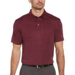 Jack Nicklaus Mens Mini Heather Jacquard Golf Polo