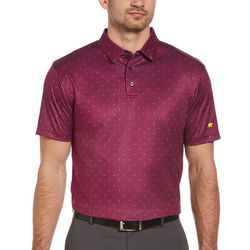 Jack Nicklaus Mens Mini Geo Print Golf Polo Shirt