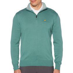 Jack Nicklaus Mens Heathered Zipper Placket Sweater