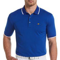 Jack Nicklaus Mens Solid Contrast Trim Golf Polo