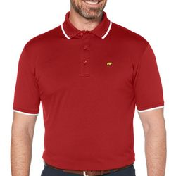 Jack Nicklaus Mens Solid Contrast Trim Golf Polo Shirt