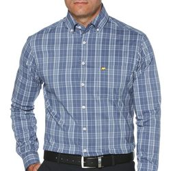 Jack Nicklaus Mens Plaid Woven Long Sleeve Shirt