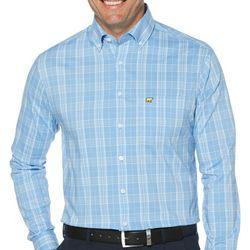 Jack Nicklaus Mens Plaid Woven Long Sleeve Shirt