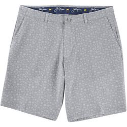 Mens Palm Print Seersucker Shorts