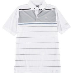 Callaway Mens Stripe Short Sleeve Polo Shirt