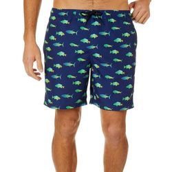 Reel Legends Mens Fish Print Boardshorts