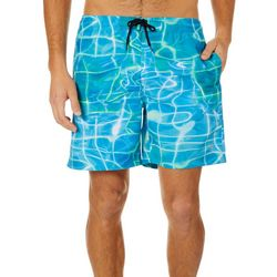 Reel Legends Mens Water Plaid Boardshorts