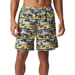 Mens Super Backcast Palm Stripe Swim Shorts