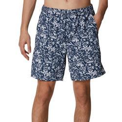 Mens Super Backcast Tropical Print Swim Shorts