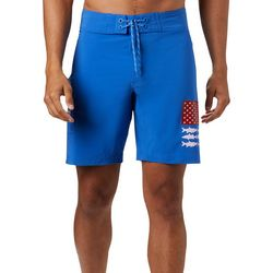 Columbia Mens PFG Fish Series Fish Flag Boardshorts