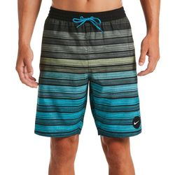 Nike Mens Stripe Breaker Swim Trunks