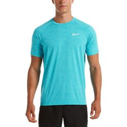 Nike Mens Hydroguard Heathered Short Sleeve Swim Shirt