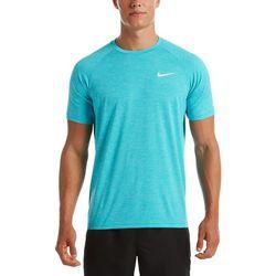 Mens Hydroguard Heathered Short Sleeve Swim Shirt