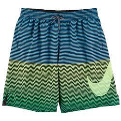 Mens Ombre Stripes 9 Volley Short