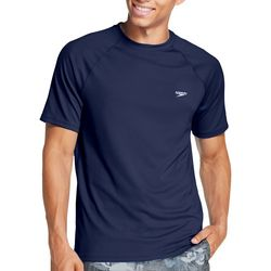 Speedo Mens Solid Short Sleeve Swim T-Shirt