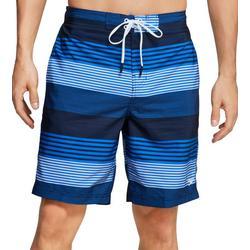 Mens Latitude Striped Redondo Volley Shorts