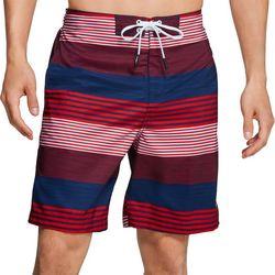 Speedo Mens Latitude Striped Redondo Volley Shorts