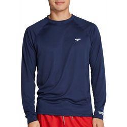 Mens Easy Solid Long Sleeve Swim T-Shirt