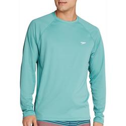 Mens New Easy Solid Long Sleeve Swim Shirt