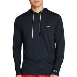 Speedo Mens Solid Hooded Long Sleeve Swim Shirt