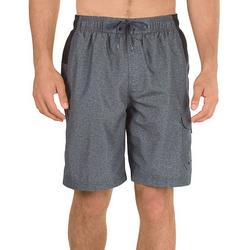 Mens Sport Colorblocked Heather Volley Shorts