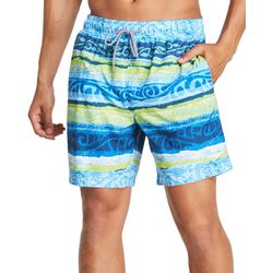 Speedo Mens Latitude Stripe Redondo Volley Boardshorts