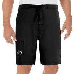 Mens Solid E-Board Shorts