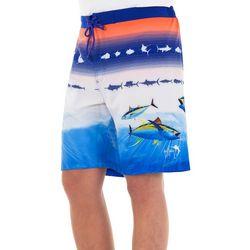Guy Harvey Mens Patriotic PRint Shorts