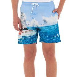 Guy Harvey Mens Paradise Volley Shorts