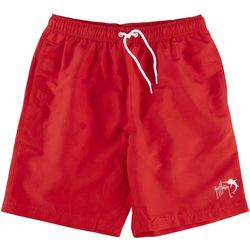 Guy Harvey Mens Solid Sailfish Volley Shorts