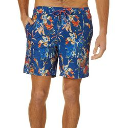 Caribbean Joe Mens Floral Volley Swim Trunks
