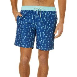 Caribbean Joe Mens Tiki Volley Swim Trunks