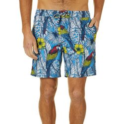 Caribbean Joe Mens Macaw Volley Swim Trunks
