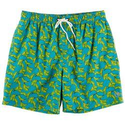 Ocean Current Mens Banana Print Volley Shorts