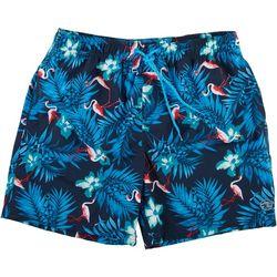 Ocean Current Mens Flamingo Jungle Volley Swim Shorts