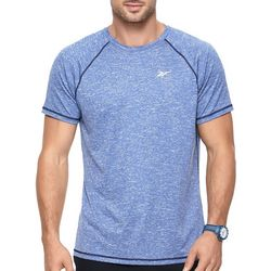 Mens Heathered Short Sleeve Swim T-Shirt