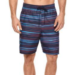 Mens Horizon Stripe Swim Trunks