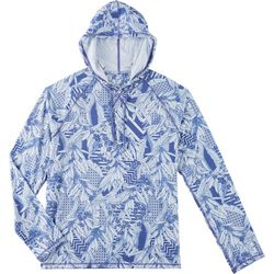 Boca Islandwear Mens Tropical Long Sleeve Swim Hoodie