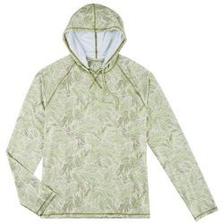 Boca Islandwear Mens Tropical Leaf Long Sleeve Swim Hoodie